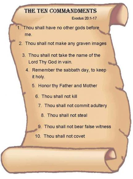 Image result for ten commandments